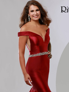 Off The Shoulder Pageant Dress Ritzee Originals 3631