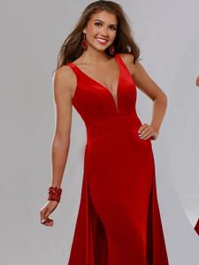 Plunging Neckline Pageant Dress Ritzee Originals 3642