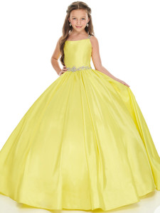 yellow pageant dress for girls perfect angels 1763