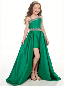 Taffeta High Low Perfect Angels 10002 Pageant Dress