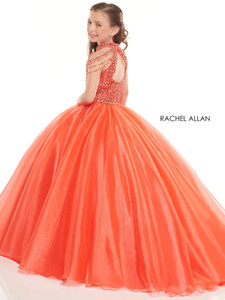 tangerine cold shoulder pageant dress for little girls perfect angels 10015