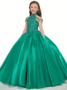 cold shoulder Ball Gown Perfect Angels 10015 Pageant Dress