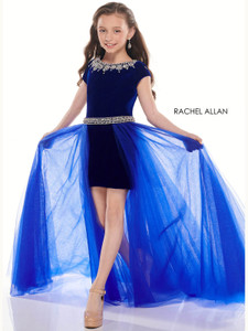 Jewel Neckline With Satin Overlay Perfect Angels 10017 Pageant Dress PageantDesigns