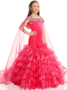 Organza Mermaid Perfect Angels 10022 Pageant Dress PageantDesigns