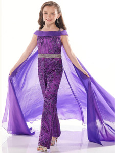 Open Shoulder Jumpsuit Perfect Angels 10023 Pageant Dress PageantDesigns