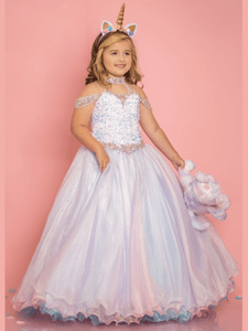High Neckline Sugar Kayne C103 Pageant Dress PageantDesigns