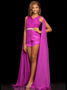 Romper Sugar Kayne C111 With Cape Pageant Dress PageantDesigns