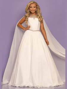 Ball Gown Sugar Kayne C136 Pageant Dress With Cape PageantDesigns