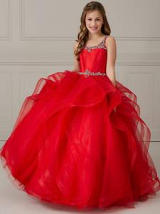 Flounce Skirt Tiffany Princess 13639 Pageant Dress