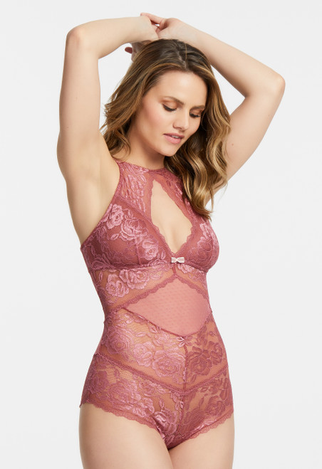Montelle Moonlight & Roses Wirefree Lace Bodysuit 9425