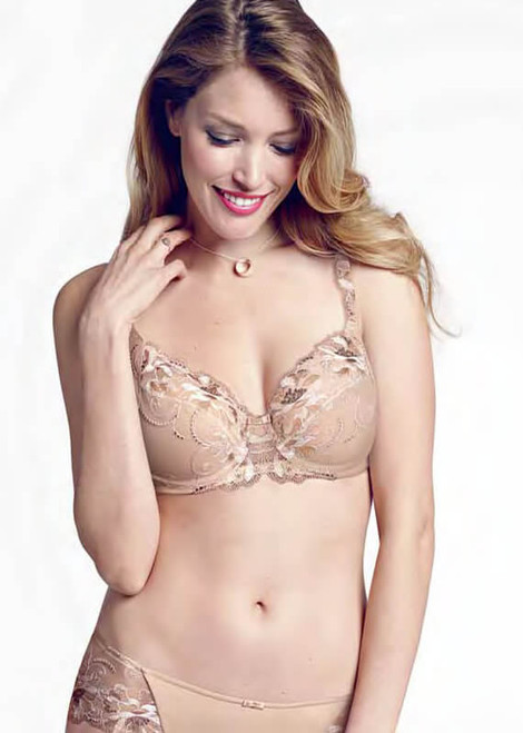Triumph Modern Bloom Minimizer Underwire Lace Bra 58473
