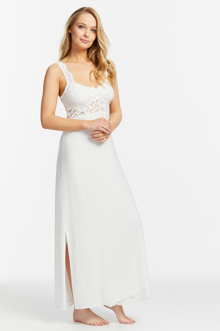 Fleur't Everlasting Bridal Supportive Wireless Gown with Lace Hem 6013