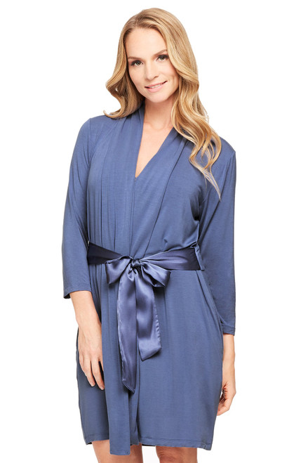 Fleur't Iconic Robe with Silk Ties 916