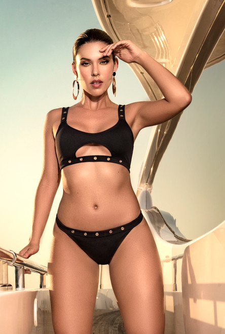 Mapale Two Piece Black Swimsuit 6531