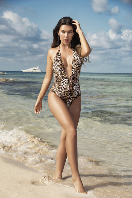 Mapale One Piece Animal Print Swimsuit 6545