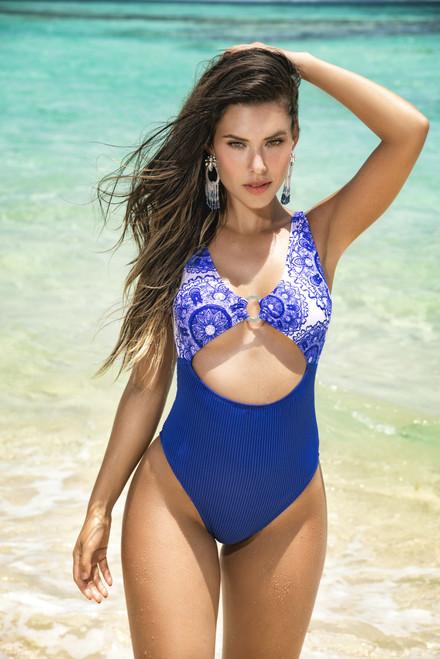 Mapale One Piece Mediterranean Royal Blue Swimsuit 6569