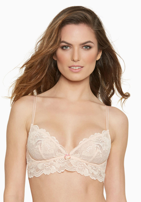 Blush Wirefree Lace 1/4 Wire Sweetest Sin Bralette 222310