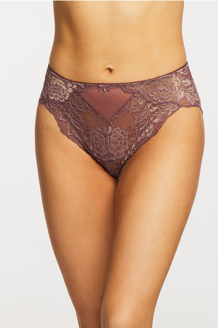 Montelle Sugar'N Spice Lace & Mesh High Waisted Panty 9442