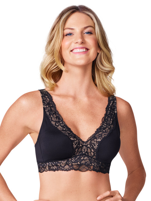 Warner's Lace Escape Wire-Free Contour with Lace Trim Bra RO3361