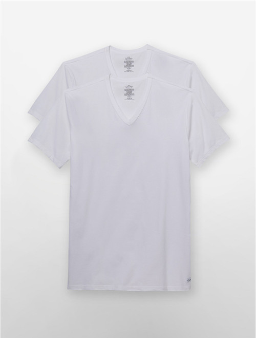 Calvin Klein Cotton Stretch 2 Pack Short Sleeve V-Neck T-Shirt NB1179