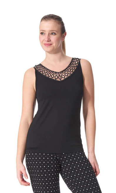 Arianne Teri Knit Top with Appliqué 5290