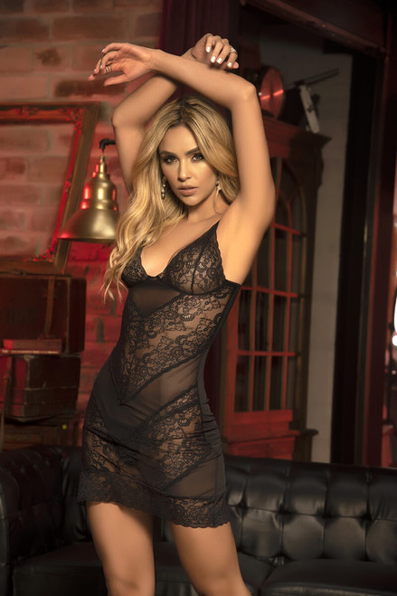 Mapale Lace Babydoll Matching G-String  7301