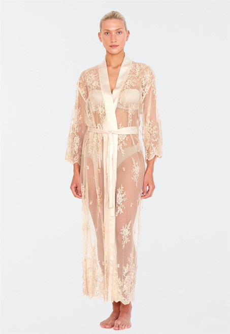 Rya Darling Lace Embroidery  Charmeuse Robe 220