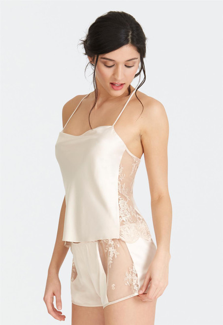 Rya Darling Lace Embroidery  Charmeuse Cami-Tap 379