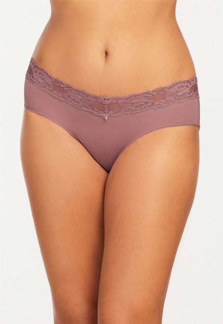 Montelle Microfiber and Lace Low Rise Hipster 9003