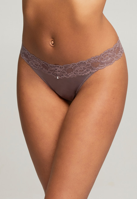 9002 Montelle Lace and Microfiber Low Rise Thong