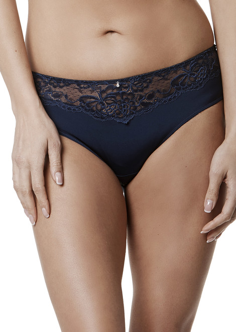 9187 Montelle Microfiber & Lace High Waisted Brief
