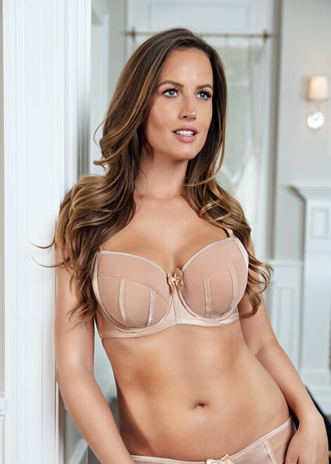Parfait Charlotte Padded Moulded Balconette Satin Underwire Bra 6901