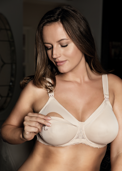 Parfait Underwire Microfiber Nursing Bra with Padded Straps NB502 Leila