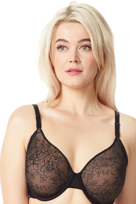 Olga No Side Effects Lace Spacer Contour Underwire Lace Bra GF6781A