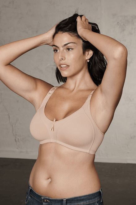 Naturana Wireless Soft Cup Moulded Full Support Cotton Bra 5101