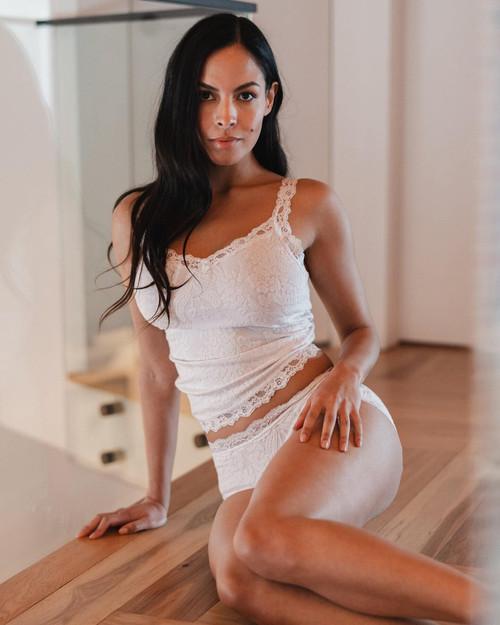 Arianne Victoria Jacquard & Lace-Trimmed Camisole 5652