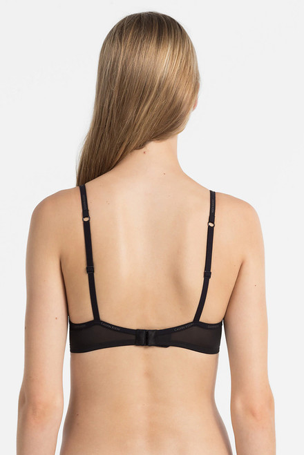 Calvin Klein Sheer Marquisette Unlined Sheer Demi Bra QF1680
