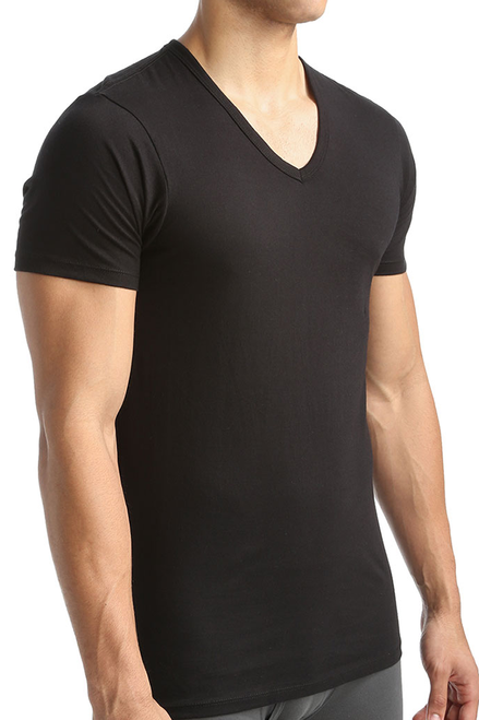 Calvin Klein Cotton Classic Slim Fit V-Neck T-Shirt - 3 Pack NB1177