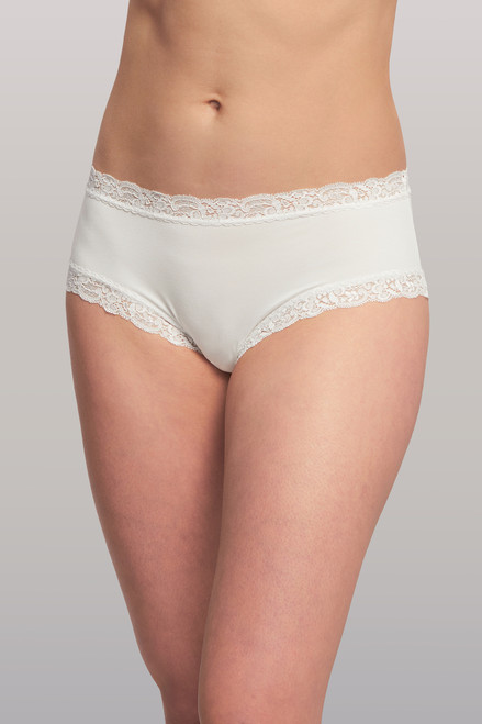 Fleur't Iconic Lace Micro Modal High Waist Boyshort Panty 602