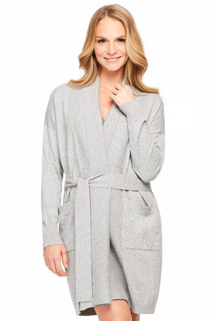 Fleur't Cashmere & Cotton Cosmopolitan Luxury Belted Cardigan 5931