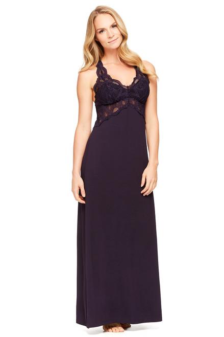 Fleur't Belle Epoque Lace T-Back Long Gown 4162