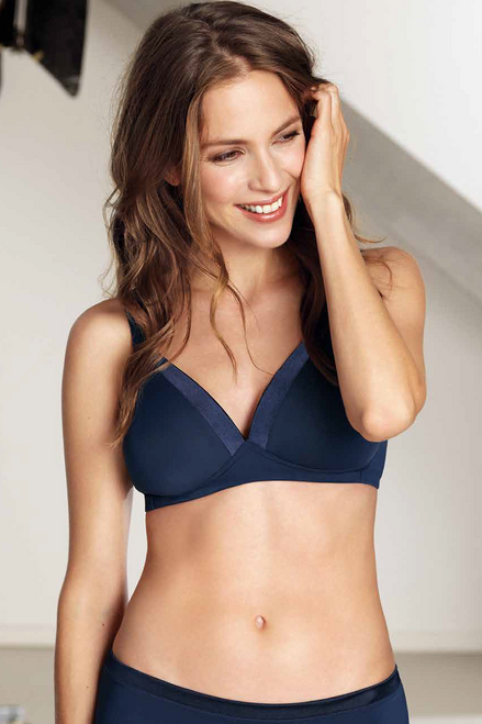 Andalucia Wireless Padded Soft Bra By Naturana Blue Label 5246