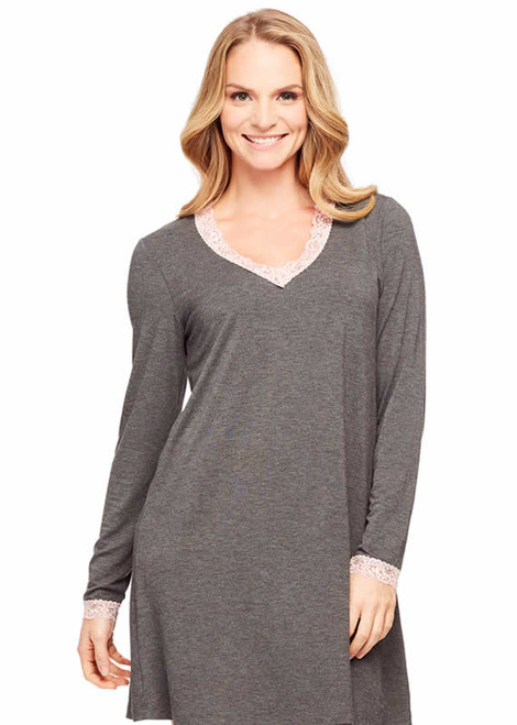 Fleur't Rayon Long Sleeve Night Shirt 5503