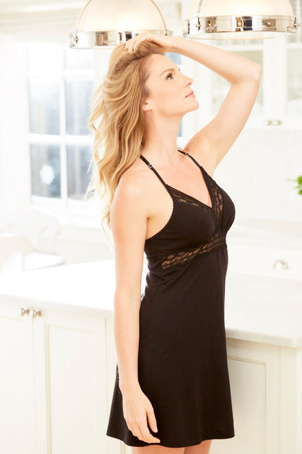 Fleur't Cityscape Supportive Chemise with Lace Inserts 5508