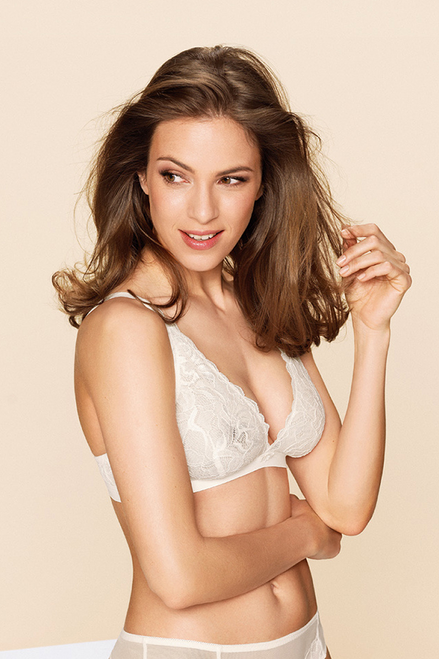 Valencia Wireless High Apex Soft Bra by Naturana Blue Label 5652