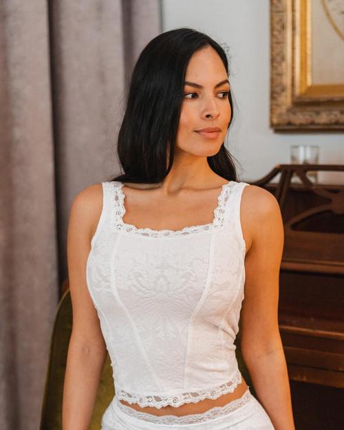 Arianne Victoria Jacquard & Lace Camisole Corset 5655