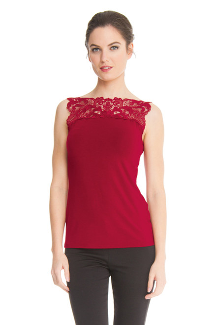 Arianne Teri Knit Top with Lace Applique 5497