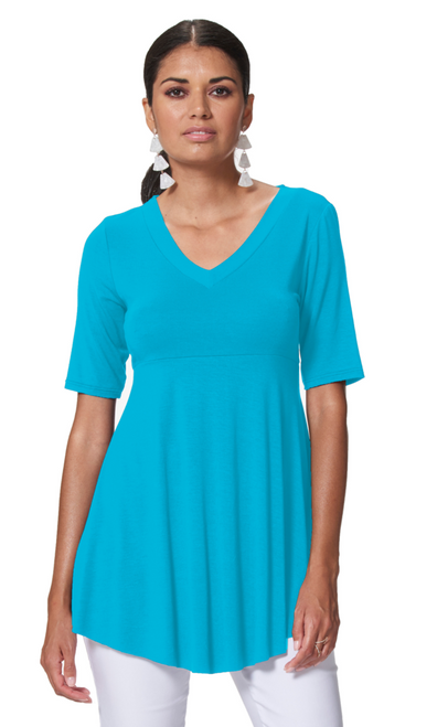 Arianne Candice Elbow Sleeve V-Neck Flowy Tunic 9624