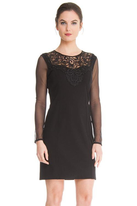 Arianne Stefi Dress With Long Mesh Sleeves 8928
