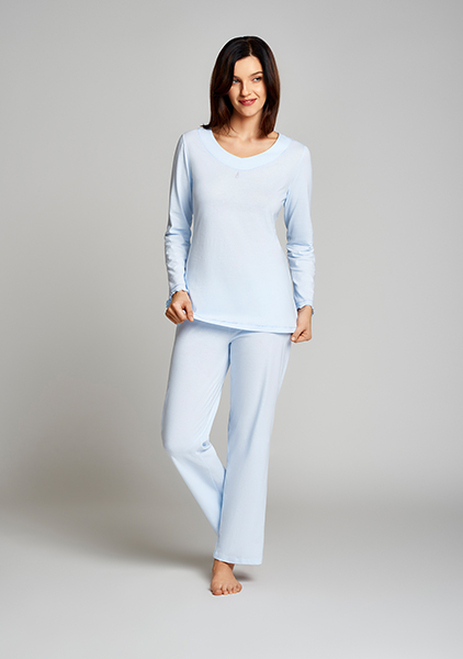 Cybele 100 Per Cent Cotton Knit 2-Piece Long Sleeve Pajama Set 7-810377